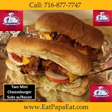 Cheeseburgers Subs at Daddio's Pizza Buffalo New York